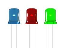 Tre LED Immagini Stock Libere da Diritti