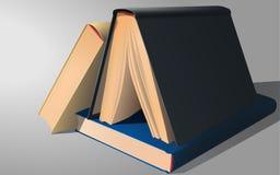 Tre libri Fotografia Stock