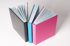 Tre libri aperti per lettura Fotografia Stock Libera da Diritti