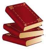 Tre libri rossi Fotografie Stock Libere da Diritti