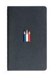Tre lilla använda kulöra blyertspennor Royaltyfria Bilder