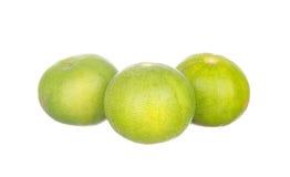 Tre limefrukter som isoleras på vit Royaltyfri Fotografi