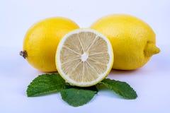 Tre limoni Fotografia Stock