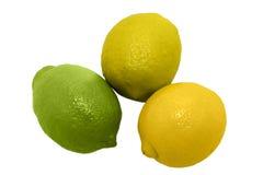 Tre limoni Fotografie Stock
