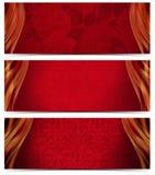 Tre lyxiga baner Royaltyfri Bild