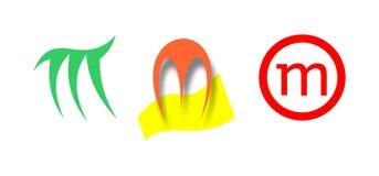 Tre M-logoer Fotografering för Bildbyråer