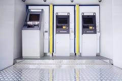 Tre macchine di bancomat Immagine Stock