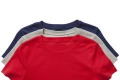 Tre magliette isolate Immagini Stock Libere da Diritti
