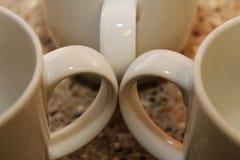 Tre maniglie della tazza di caffè Fotografia Stock Libera da Diritti