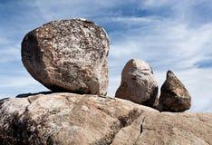 Tre massi equilibrati Immagine Stock