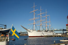 Tre masted bark Viking gothenburg sweden Arkivbilder