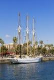 Tre-masted segelbåt Fotografering för Bildbyråer