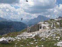Tre maxima i dolomitesna, Italien Arkivbilder