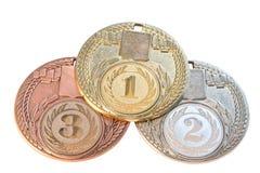 Tre medaljer Royaltyfri Bild