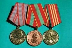 Tre medaljer Arkivfoto