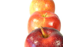 Tre mele immagini stock