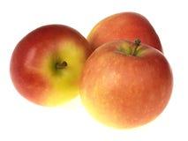 Tre mele rosse immagine stock