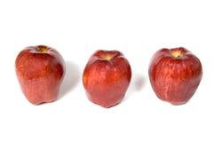 Tre mele rosse Immagini Stock