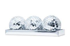 Tre mirrorballs brillanti Fotografia Stock Libera da Diritti