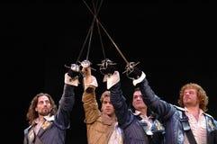 Tre moschettieri - il Muscial Fotografia Stock Libera da Diritti