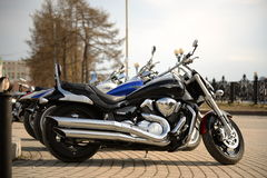 Tre motorcyklar royaltyfri fotografi