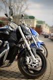 Tre motorcyklar royaltyfria foton