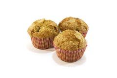 Tre muffin freschi Fotografia Stock