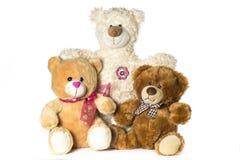 Tre nallebjörnar Fotografering för Bildbyråer