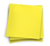 Tre note appiccicose gialle Fotografia Stock Libera da Diritti