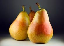 Nytt skördade pears Arkivfoton