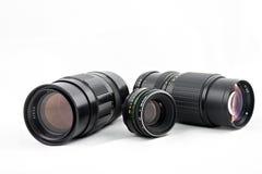 Tre obiettivi Fotografia Stock Libera da Diritti
