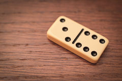 Tre och sex domino Royaltyfri Bild