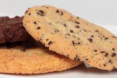 Tre olika amerikanska kakor Arkivbild