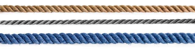 Tre olika rep Fotografering för Bildbyråer