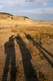 Tre ombre Fotografie Stock