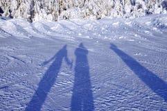 Tre ombre Fotografia Stock
