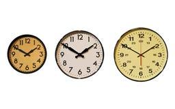 Tre orologi Fotografia Stock