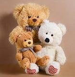 Tre orsi del giocattolo Fotografia Stock