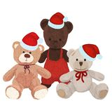 Tre orsi della peluche in cappucci di Natale illustrazione vettoriale