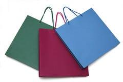 Tre pacchetti di colore Fotografia Stock Libera da Diritti