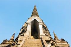 Tre pagoda, Wat Phra Si Sanphet fotografia stock