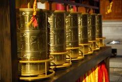 Tre pagode buddisti nella vecchia città di Dali, provincia di Yunnan, Cina Fotografie Stock