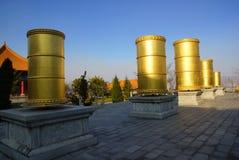 Tre pagode buddisti nella vecchia città di Dali, provincia di Yunnan, Cina Immagini Stock Libere da Diritti