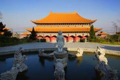 Tre pagode buddisti nella vecchia città di Dali, provincia di Yunnan, Cina Immagine Stock Libera da Diritti