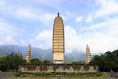 Tre pagode di Dali City, porcellana Fotografia Stock
