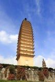 Tre pagoder av Dali City, porslin Royaltyfri Foto