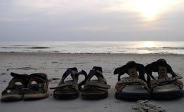 Tre paii di scarpe Fotografia Stock