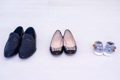 Tre paii di scarpe Immagine Stock