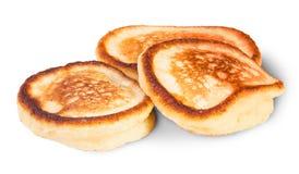 Tre pancake dolci Immagini Stock Libere da Diritti