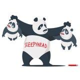Tre panda Fotografia Stock Libera da Diritti
